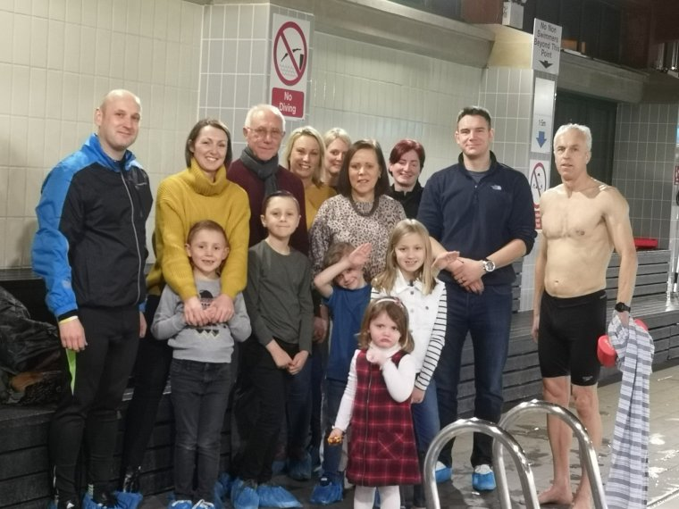 day 67 north yorkshire swim finish with pc andy bramma family